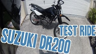 1. Suzuki DR200 Test Ride and Review