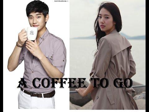 A coffee to go - Kim soo Hyun and Park Shin Hye.