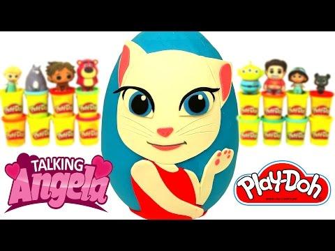 Huevo Sorpresa Gigante de Talking Angela en Español de Plastilina Play Doh