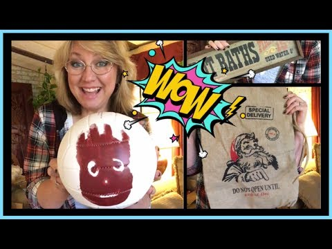 "•Goodwill Outlet ""WOW"" Haul • Karaoke* Beauty *Golf* Vintage Signs & More"