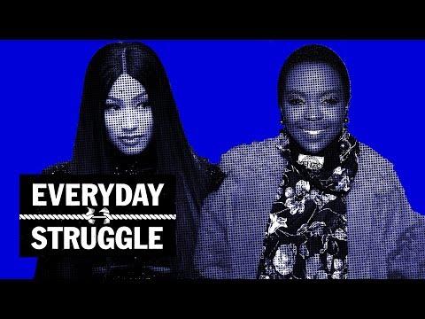 Nicki Minaj 'Queen' Promo Run Spirals Into Messy Fight Over Lyrics | Everyday Struggle онлайн видео