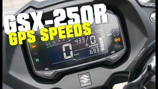 10. Suzuki GSX250R GPS speeds and GPS top speed