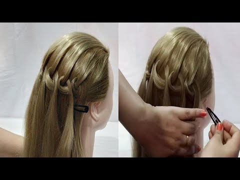 Braid hairstyles - Beautiful Waterfall Braid Hairstyle  Cute Girls Hairstyles  hairstyles for girls  Hair Tutorial