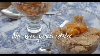 No mess peach cobbler video