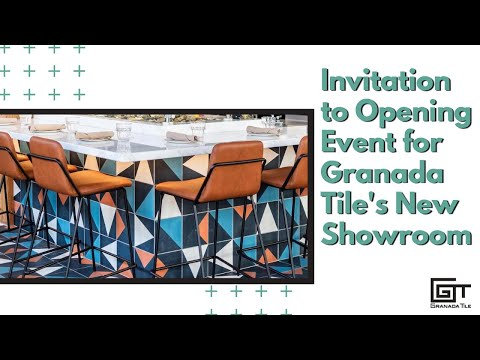 Invitation To Opening Event For Granada Tile's New Showroom
