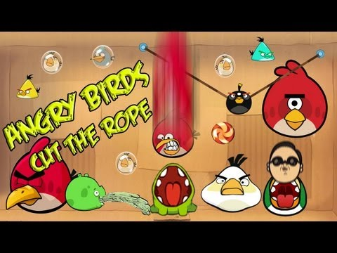 angry birds cut the rope mashup animated parody starring psy(싸이)