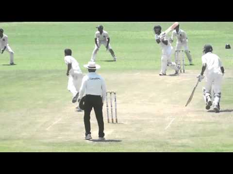 The wicket of Brad Taylor off the bowling of Tillakaratne Dilshan - Surrey vs Hampshire, 2014