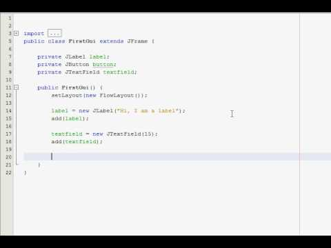 Java GUI Tutorial 2 – Adding objects to the window