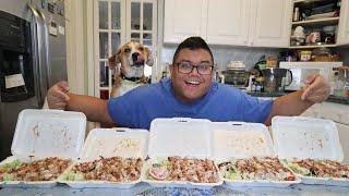 Video Massive Chicken Over Rice Challenge! MP3, 3GP, MP4, WEBM, AVI, FLV April 2018