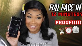 I CAN DO MY MAKEUP IN 12 MINS! [PROOF!!] by Ms Aaliyah Jay