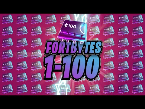 All Fortbyte Locations 1-100 (Fortnite)