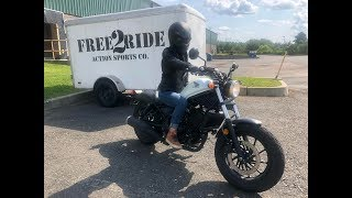 3. Her First Bike - Honda Rebel 300 Review
