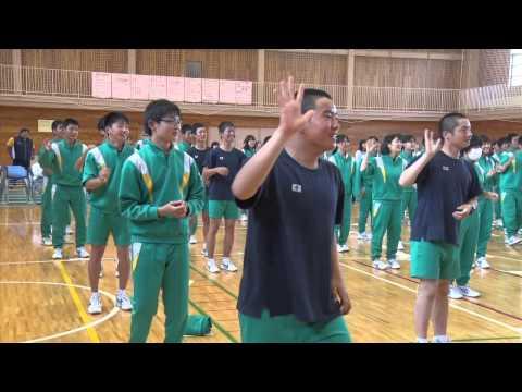 爆笑? 松尾中学校 わんこダンス!