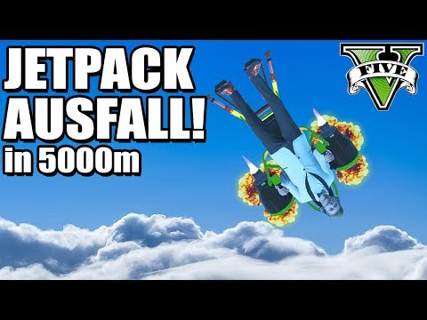Video JETPACK in 5000m HÖHE AUSGEFALLEN !!! (GTA 5 Online) download in MP3, 3GP, MP4, WEBM, AVI, FLV January 2017