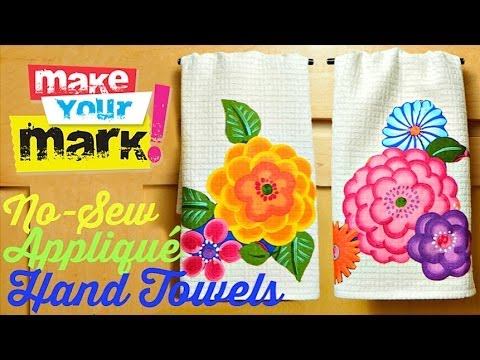 No Sew Appliqué Hand Towels DIY