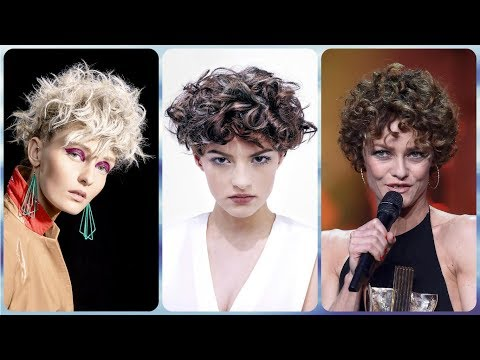 Short haircuts - 20 new  Ideas on short hairstyles for women with thick curly hair 2019