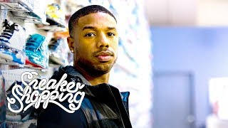 Michael B. Jordan Goes Sneaker Shopping With Complex