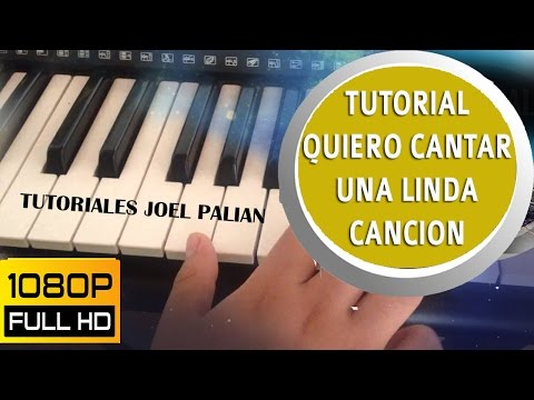 TUTORIAL QUIERO CANTAR UNA LINDA CANCION  CUMBIA - ALABANZAS