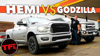 I Drive a New 2020 Ram HD 6.4L HEMI Over 1,000 Miles and Compare Its MPG Versus a 7.3L Ford F-250 by The Fast Lane Truck