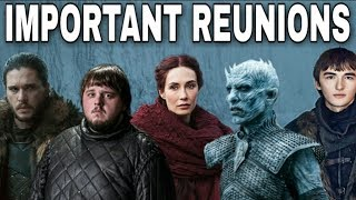 Game of Thrones Season 7 is almost here and this Season will feature an enormous amount of reunions now that most of the plot lines will start to intertwine. Jon Snow will be a busy man this season which puts him into position to reunite with some old friends & foes. Which reunion are you looking forward to the most? Comment down below and let me know. Thanks for watching! Images from Game of Thrones are property of their creators, used here under fair use. Support the channel on Patreon here! https://www.patreon.com/TalkingThronesFollow me on Twitter here! https://mobile.twitter.com/Talking_ThronesFriend me on Facebook here! https://m.facebook.com/TalkingThronesI want to give a special thanks to all of my Supporters!I love all of you!