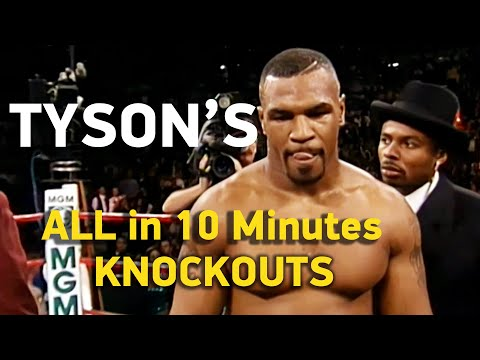 Mike Tyson: All Knockouts in 10 Minutes, HD