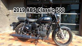 10. 2019 Royal Enfield Classic 500 Stealth Black ABS Walkaround #BPC