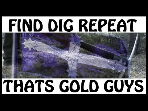 GOLD NUGGET DETECTING USING MINELAB METAL DETECTOR GPX 4500 VICTORIA AUSTRALIA