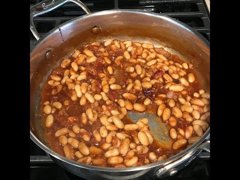 Sugar-Free Baked Beans (no oven) 8-ingredients