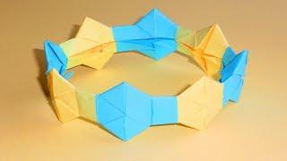 Браслет из бумаги Модульное оригами