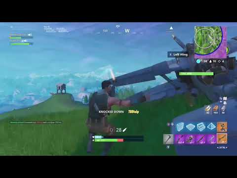 Killing a player with a sniper while flying in a plane (Fortnite Battle Royale)