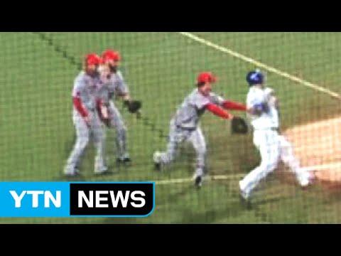南韓職棒小賤招....手套沒球還能搞觸身