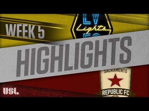 Las Vegas Lights - Сакраменто Репаблик 1:1. Видеообзор матча 15.04.2018. Видео голов и опасных моментов игры
