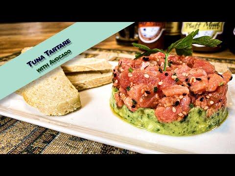 Tuna Tartare with a Unique Charleston  flair, Benne Seeds...