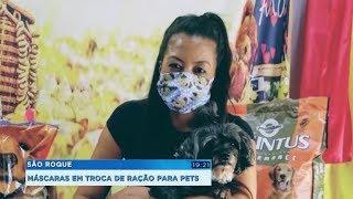 São Roque: costureira troca máscaras por ração para animais de rua