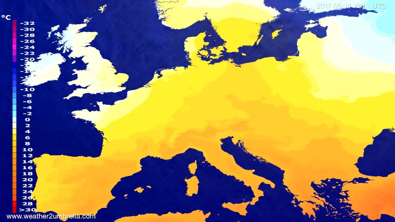Temperature forecast Europe 2017-05-12