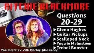 Ritchie Blackmore interview: Questions 20-29 Glenn Hughes Scalloped Neck Pickups 1996 Rainbow Fans