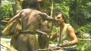http://HumansAreFree.com ~One Planet, One Specie, One Love~ Tribe on Papua New Guinea meets white man for the first time.