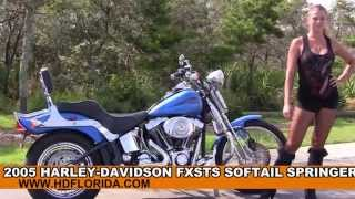 3. Used 2005 Harley Davidson Softail Springer Motorcycles for sale in Florida