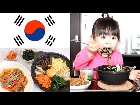 Rino - 2012年3月11日/2歳9ヶ月 The mom cooked Japchae and Stone scorch Bibimbap of the Korean dish and had her eat it. The mom sometimes cooked Japchae . However, it was J...