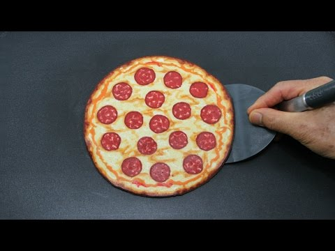Pepperoni Pizza Pancake Art