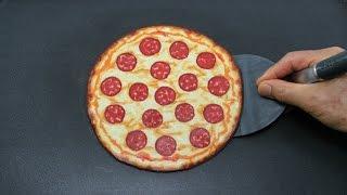 Making Pepperoni Pizza PANCAKE