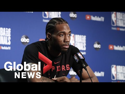 NBA Finals: Kawhi Leonard says his mindset throughout season is 'to win today's game'