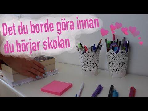 Saker Du Borde Göra Innan Du Börjar Skolan (видео)