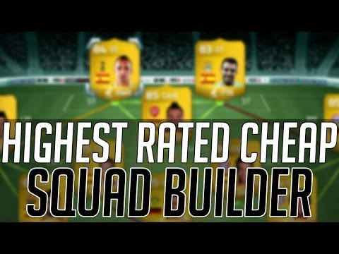 THE HIGHEST RATED AFFORDABLE SQUAD (CHEAP) | FIFA 14 Ultimate Team Squad Builder (FUT 14)