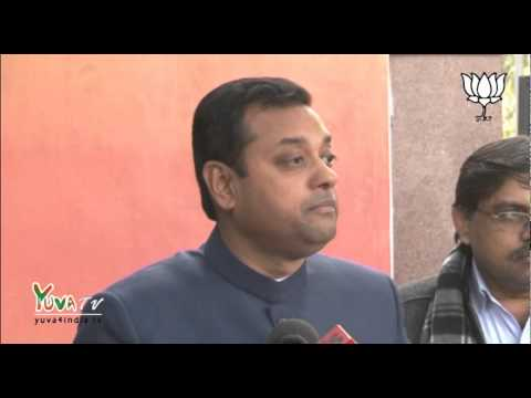There is only one aim of BJP Delhi, to give stable governance to Delhi: Dr. Sambit Patra: 23.01.2015