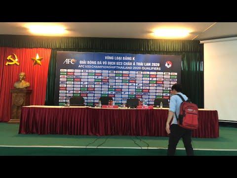 Họp kỹ thuật vòng loại bảng K VL U23 Châu Á 2020 - Thời lượng: 1 giờ, 30 phút.