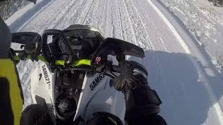 10. 2018 Freeride 146 behind Garson, ON.... groomed trail :(
