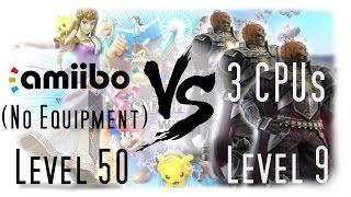 This is how my amiibo deals with Three Level 9 Ganondorf CPUs