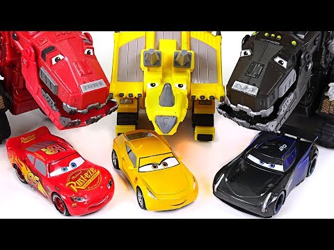 Dinotrux and Disney Pixar Cars 3's operation to defeat dinosaurs!! - DuDuPopTOY