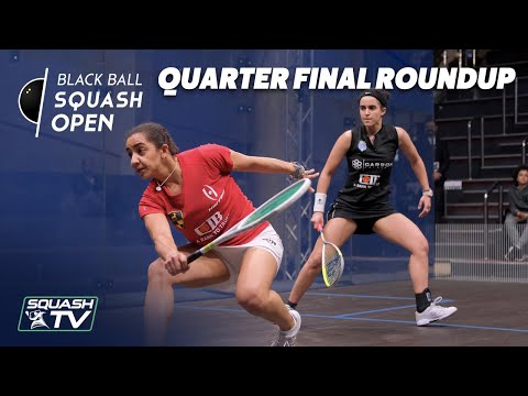 Squash: CIB Black Ball Women's Open 2020 - Quarter Final Roundup